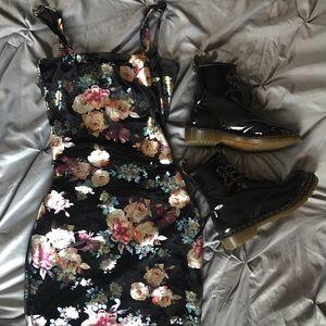 Velvet Iridescent BodyCon Dress